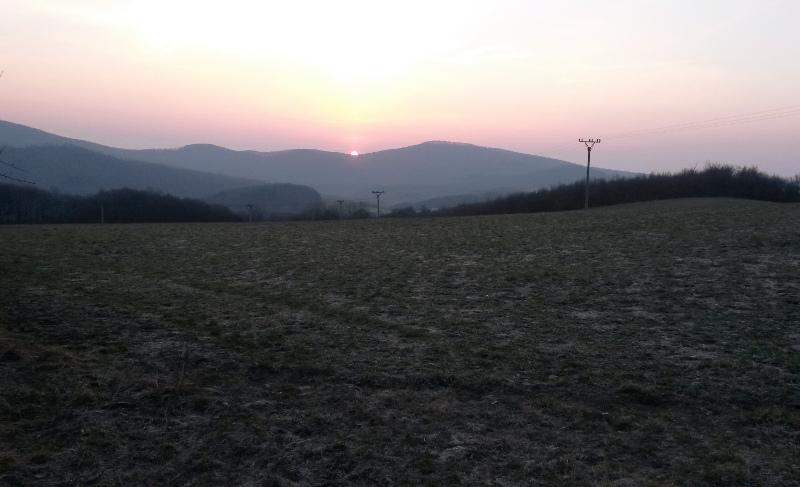 Východ slunce před Bezovcem