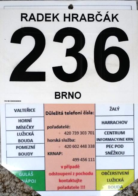 Startovní číslo