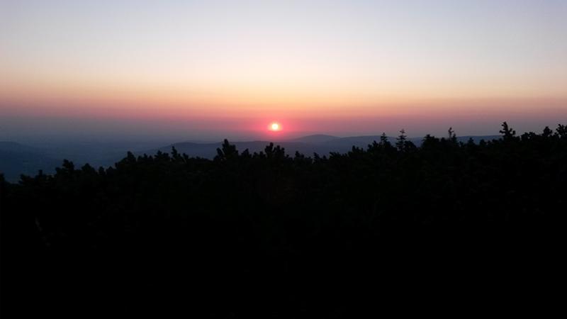 Východ slunce z Keprníku.