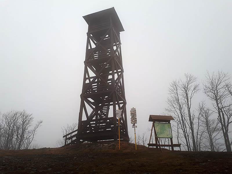 Na Panskej Javorině. Sibérie, co na fotce není vidět - mlha, zima, fukejř.