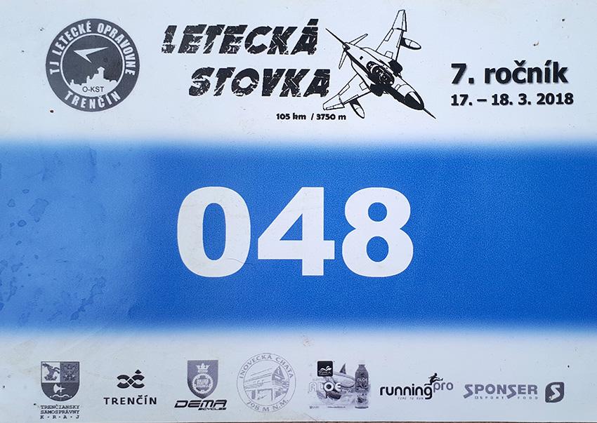 Moje startovní číslo